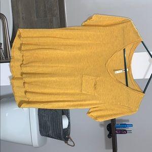 Yellow Vneck